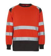 50110-854-A49 Sweter - czerwień hi-vis/ciemny antracyt