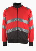 50116-950-A49 Bluza z zamkiem błyskawicznym - czerwień hi-vis/ciemny antracyt
