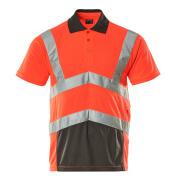 50117-949-A49 Koszulka Polo - czerwień hi-vis/ciemny antracyt