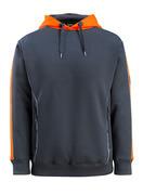 50124-932-01014 Bluza z Kapturem - ciemny granat/pomarańcz hi-vis