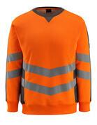 50126-932-1418 Sweter - pomarańcz hi-vis/ciemny antracyt