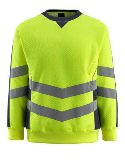 50126-932-14010 Sweter - pomarańcz hi-vis/ciemny granat