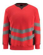 50126-932-22218 Sweter - czerwień hi-vis/ciemny antracyt