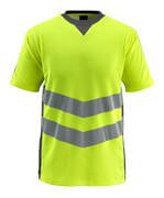 50127-933-1718 T-Shirt - żółty hi-vis/ciemny antracyt