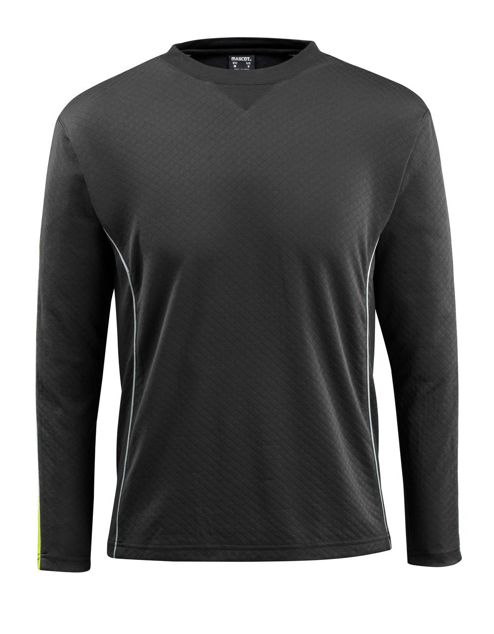 50128-933-0917 T-Shirt, długimi rękawami - czerń/żółty hi-vis