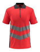 50130-933-22218 Koszulka Polo - czerwień hi-vis/ciemny antracyt