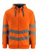50138-932-1418 Bluza z Kapturem z zamkiem błyskawicznym - pomarańcz hi-vis/ciemny antracyt