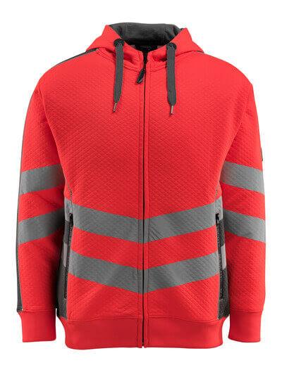 50138-932-14010 Bluza z Kapturem z zamkiem błyskawicznym - pomarańcz hi-vis/ciemny granat