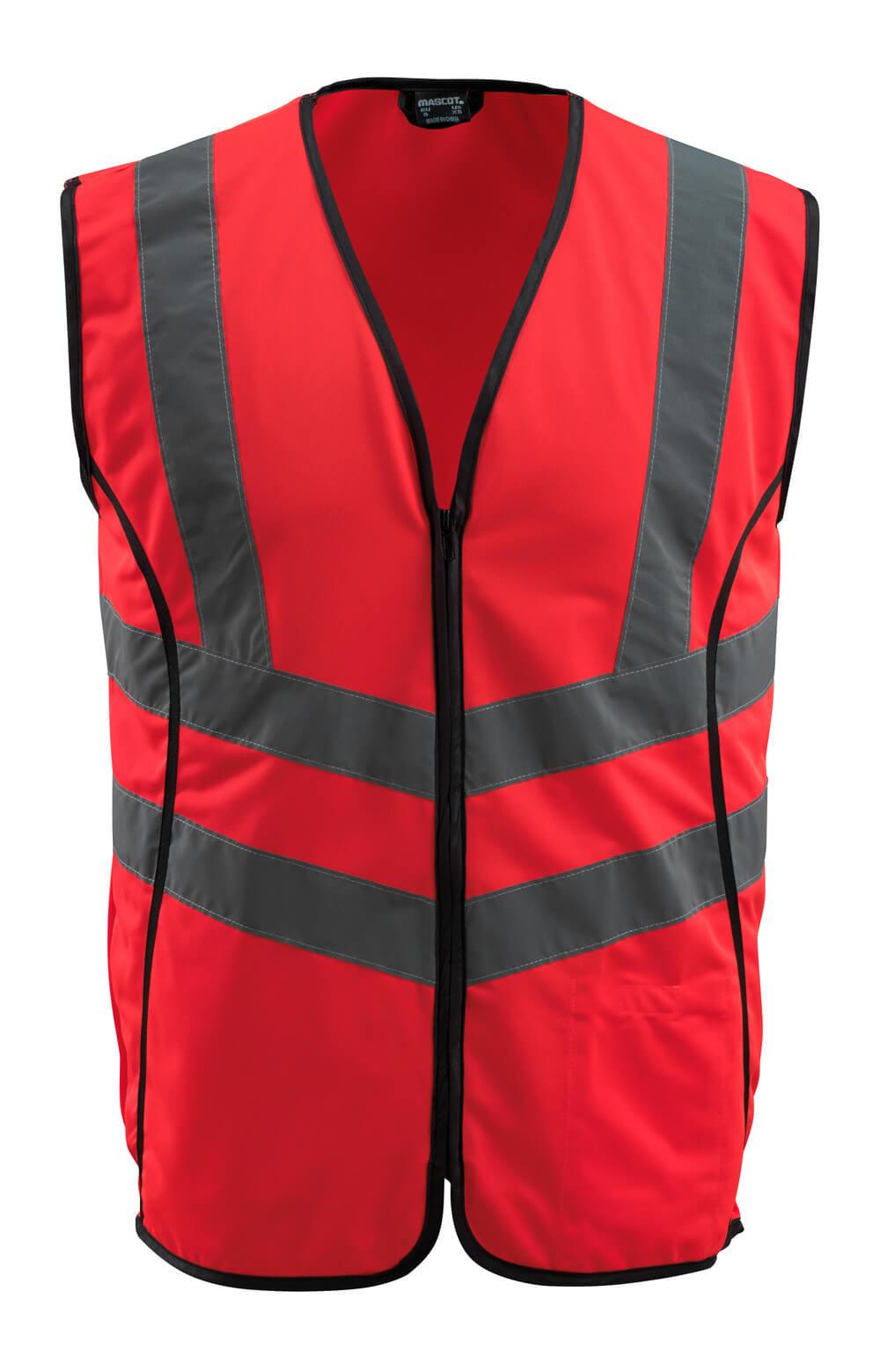 50145-982-222 Kamizelka ostrzegawcza - czerwień hi-vis