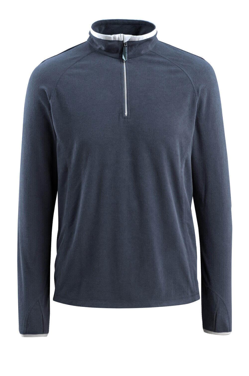 50148-239-010 Bluza polarowa z krótkim zamkiem błyskawicznym - ciemny granat