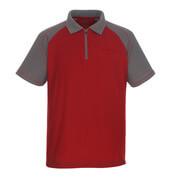 50302-260-02888 Koszulka Polo z kieszenią na piersi - czerwień/antracyt