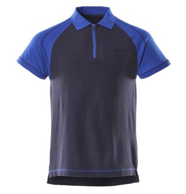50302-260-111 Koszulka Polo z kieszenią na piersi - granat/niebieski