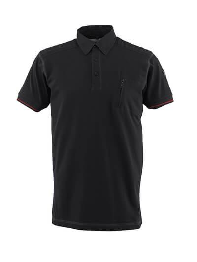 50351-833-09 Koszulka Polo z kieszenią na piersi - czerń
