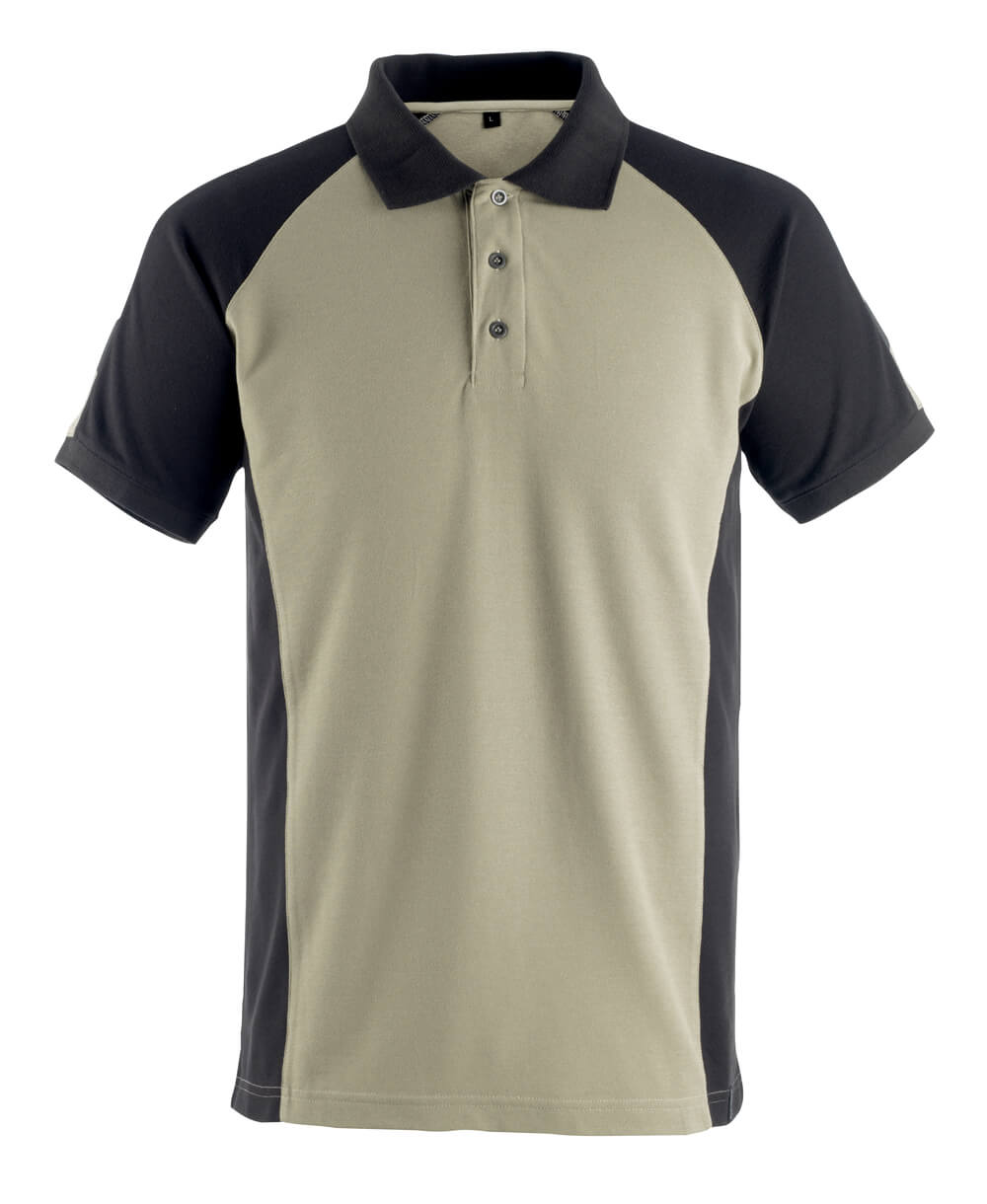 50502-260-5509 Koszulka Polo - jasny khaki/czerń