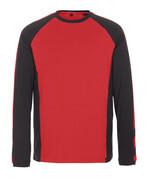 50568-959-0209 T-Shirt, długimi rękawami - czerwień/czerń