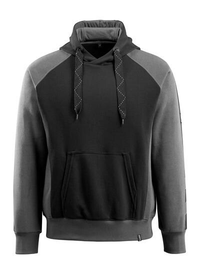 50572-963-0918 Bluza z Kapturem - czerń/ciemny antracyt