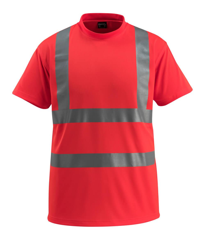 50592-976-222 T-Shirt - czerwień hi-vis