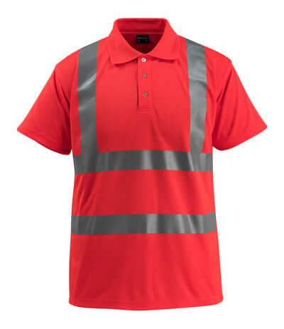 50593-976-222 Koszulka Polo - czerwień hi-vis