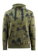 50597-280-33 Bluza z Kapturem - zielony mech