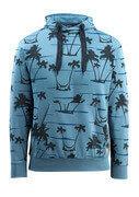 50597-280-85 Bluza z Kapturem - błękitno niebieski