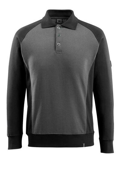 50610-962-1809 Bluza Polo - ciemny antracyt/czerń