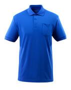 51586-968-11 Koszulka Polo z kieszenią na piersi - niebieski