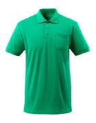 51586-968-333 Koszulka Polo z kieszenią na piersi - zielona trawa