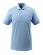 51586-968-71 Koszulka Polo z kieszenią na piersi - jasny niebieski