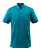 51586-968-93 Koszulka Polo z kieszenią na piersi - petrolowy