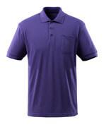 51586-968-95 Koszulka Polo z kieszenią na piersi - niebiesko-fioletowy