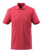 51586-968-96 Koszulka Polo z kieszenią na piersi - malinowy