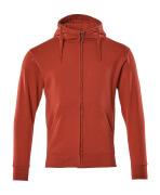 51590-970-02 Bluza z Kapturem z zamkiem błyskawicznym - czerwień