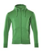 51590-970-333 Bluza z Kapturem z zamkiem błyskawicznym - zielona trawa
