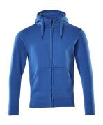 51590-970-91 Bluza z Kapturem z zamkiem błyskawicznym - błękitny